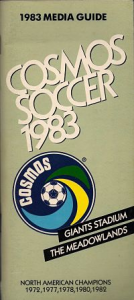 1983 New York Cosmos Media Guide