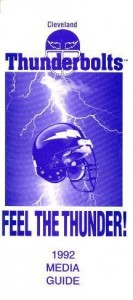 1992 Cleveland Thunderbolts Media Guide