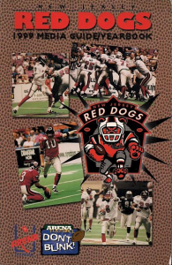 1999 New Jersey Red Dogs Media Guide