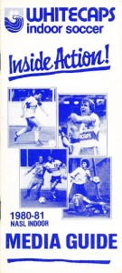 1980-81 Vancouver Whitecaps Indoor Media Guide
