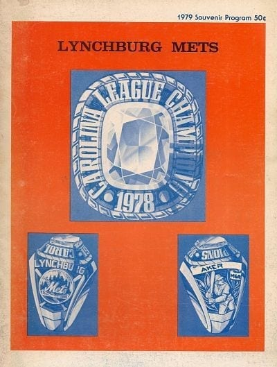 1979 Lynchburg Mets Program