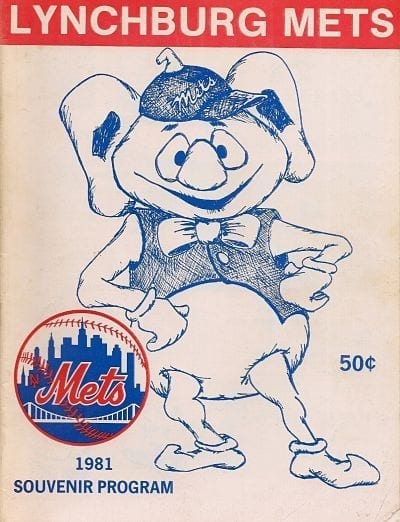 1981 Lynchburg Mets Program