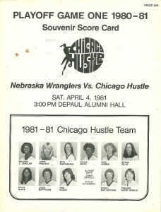 1981 Chicago Hustle Program