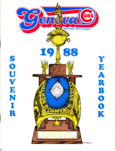 1988 Geneva Cubs Program