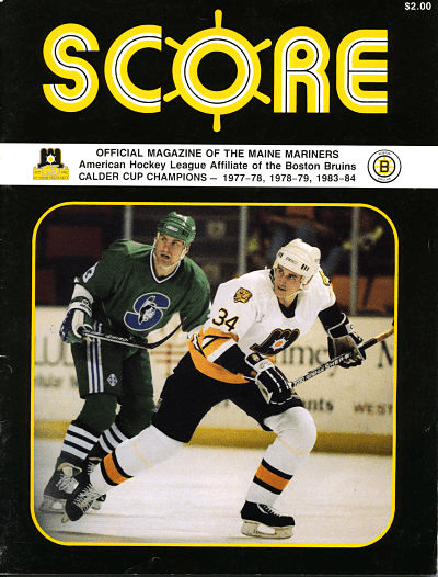 1992 Maine Mariners Program