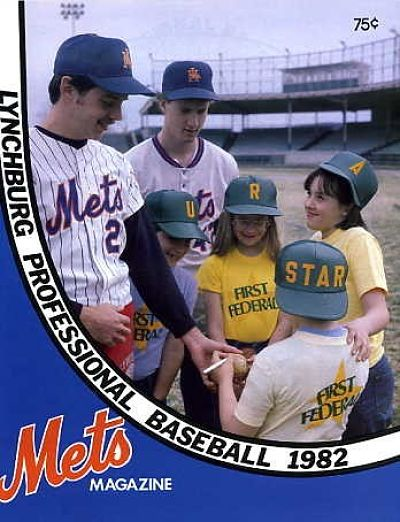 1982 Lynchburg Mets Program