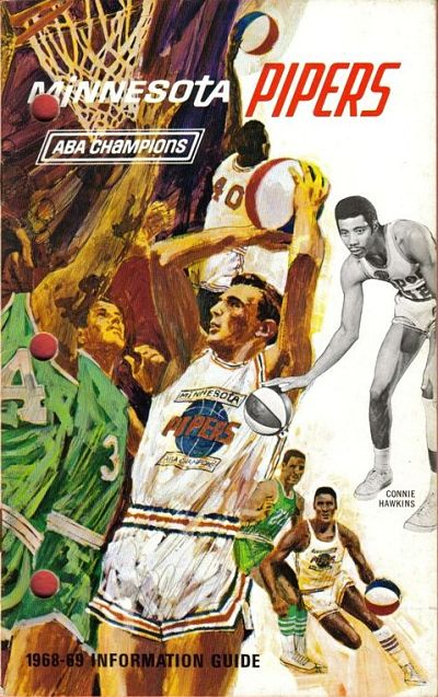 1968-69 Minnesota Pipers Media Guide