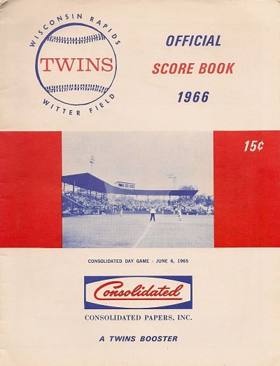 1966 Wisconsin Rapids Twins Program
