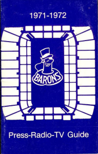 1971-72 Cleveland Barons Media Guide