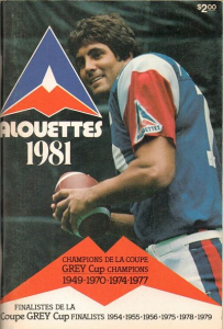 1981 Montreal Alouettes Media Guide