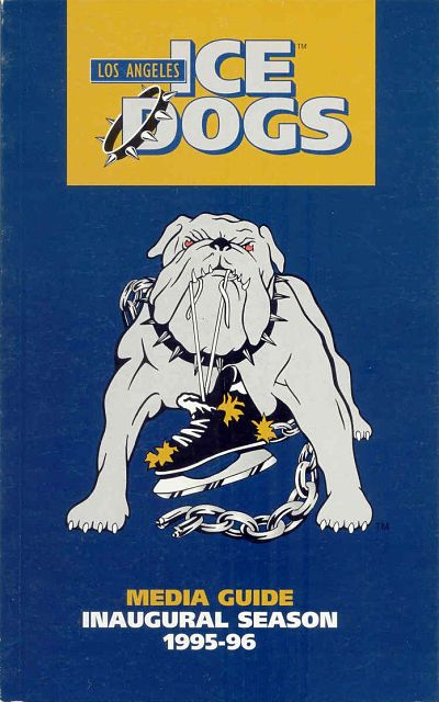 1995-96 Los Angeles Ice Dogs Media Guide