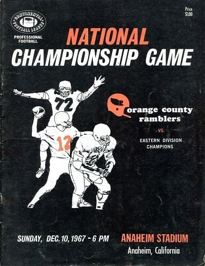 Orlando Panthers at Orange County Ramblers. December 10, 1967