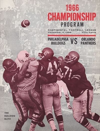 1966 Philadelphia Bulldogs Program