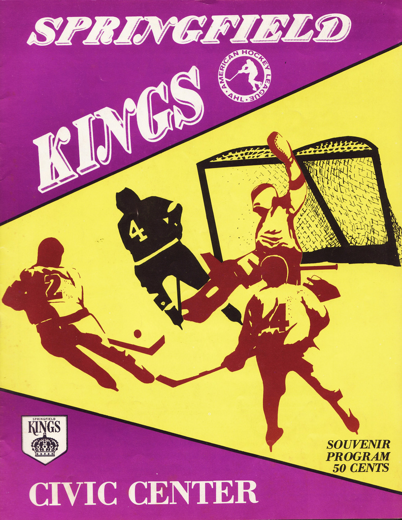 Springfield kings american hockey league at fun while it lasted 1975 springfield kings program aiddatafo Image collections