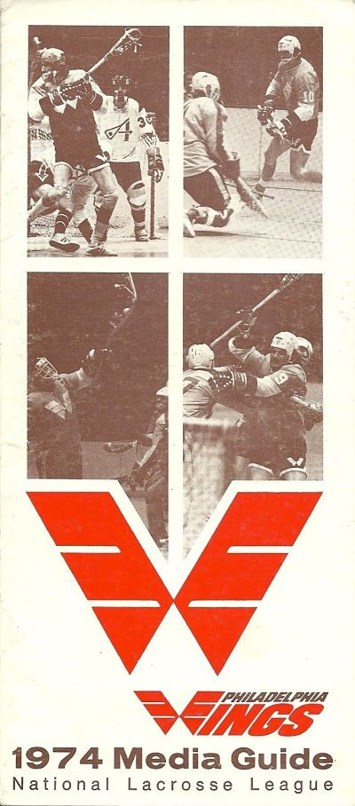 1974 Philadelphia Wings Media Guide