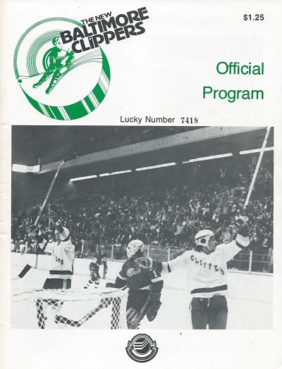 1979-80 Baltimore Clippers Program