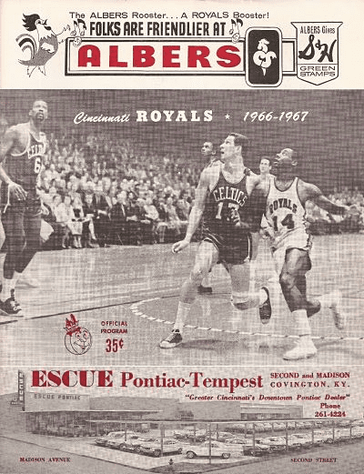 1966 Cincinnati Royals Program