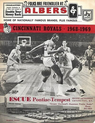 1969 Cincinnati Royals Program