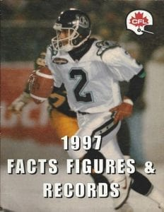 1997 CFL Facts Figures & Records Book