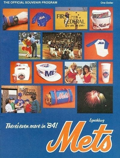 1984 Lynchburg Mets Program