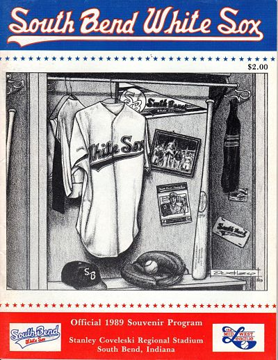 1989 South Bend White Sox Program