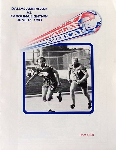 1983 Dallas Americans Program