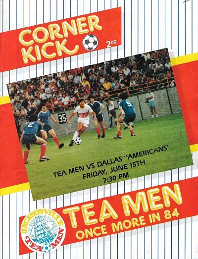 Dallas Americans at Jacksonville Tea Men. June 15, 1984