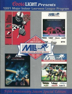 1991 Major Indoor Lacrosse League Program