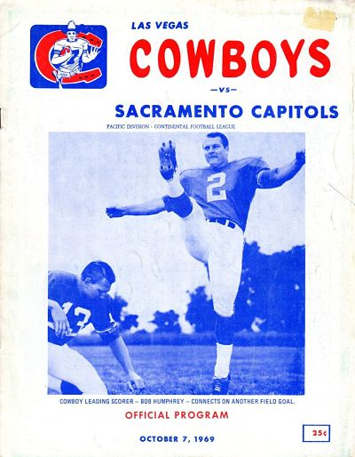 Sacramento Capitols at Las Vegas Cowboys. October 7, 1969
