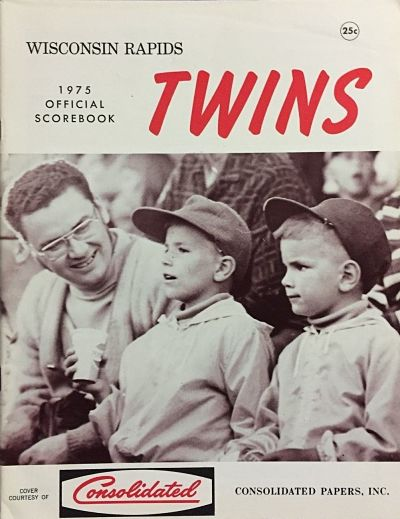 1975 Wisconsin Rapids Twins Program