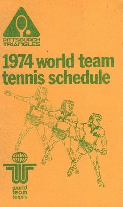 1974 Pittsburgh Triangles Pocket Schedule