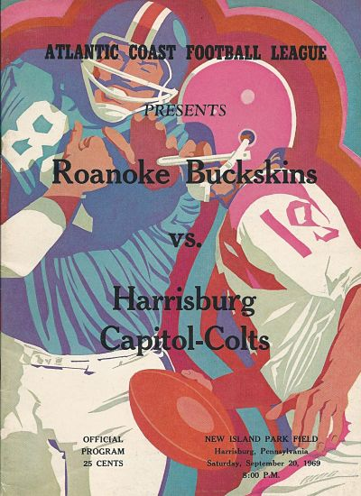 1969 Harrisburg Capitol-Colts Program