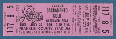 1980 Columbus Magic Ticket