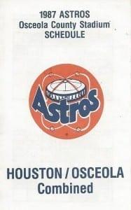 Team Daytona Beach Astros 1983 Minor Baseball Pocket Schedule Vintage Sports Memorabilia