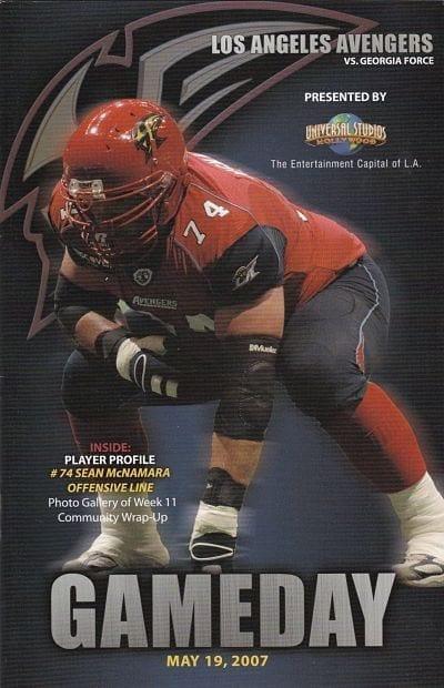 2000 Milwaukee Mustangs vs Los Angeles Avengers Arena Football Program